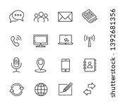 communication line icon set 2 ... | Shutterstock .eps vector #1392681356