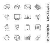 communication line icon set 3 ... | Shutterstock .eps vector #1392681389