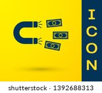blue magnet with money icon... | Shutterstock .eps vector #1392688313