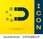 blue magnet with money icon... | Shutterstock .eps vector #1392688319