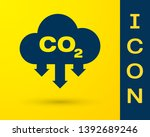 blue co2 emissions in cloud... | Shutterstock .eps vector #1392689246