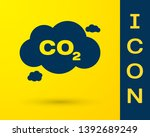 blue co2 emissions in cloud... | Shutterstock .eps vector #1392689249