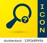 Blue Unknown Search Icon...