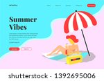summer vibes landing page ui...
