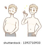 illustration before and after a ... | Shutterstock .eps vector #1392710933