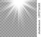 shiny sunburst of sunbeams on...   Shutterstock .eps vector #1392716183