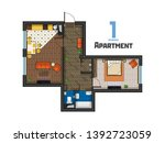 the project is a spacious... | Shutterstock .eps vector #1392723059