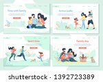 family day  leisure  sport time ... | Shutterstock .eps vector #1392723389