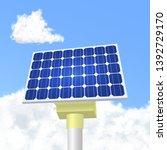 solar panels in vector. solar... | Shutterstock .eps vector #1392729170