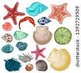 big collection of vector... | Shutterstock .eps vector #1392729509