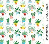seamless pattern with a... | Shutterstock .eps vector #1392734036