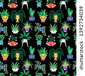 seamless pattern with a... | Shutterstock .eps vector #1392734039