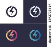 circle logo with lightning  ... | Shutterstock .eps vector #1392739619