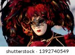 reveller in traditional...   Shutterstock . vector #1392740549