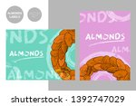 creative colorful almonds... | Shutterstock .eps vector #1392747029