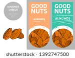 almonds product labels in... | Shutterstock .eps vector #1392747500