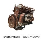 Old Car Engine Isolated On...