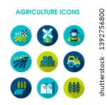 farm field icon. agriculture...