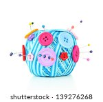 colorful buttons and wool balls ... | Shutterstock . vector #139276268