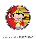 logo for a restaurant of... | Shutterstock .eps vector #1392765260