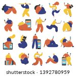set of business people flat... | Shutterstock .eps vector #1392780959