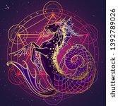 zodiac sign capricorn....   Shutterstock .eps vector #1392789026