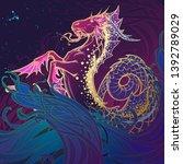 zodiac sign capricorn.... | Shutterstock .eps vector #1392789029