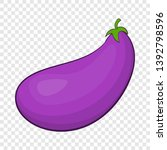 eggplant fruit icon. cartoon... | Shutterstock .eps vector #1392798596