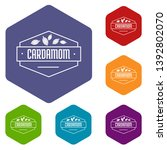 cardamom icons vector colorful...   Shutterstock .eps vector #1392802070