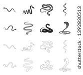 vector illustration of mammal... | Shutterstock .eps vector #1392830513