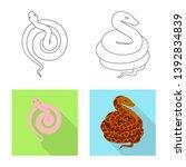 vector illustration of mammal... | Shutterstock .eps vector #1392834839
