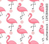 flamingo cute seamless pattern  ... | Shutterstock .eps vector #1392846683