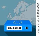 eu regulation concept  ring... | Shutterstock .eps vector #1392866006