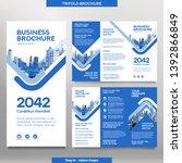business brochure template in...   Shutterstock .eps vector #1392866849