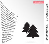 forest vector iconvector icon... | Shutterstock .eps vector #1392878126