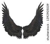 3d Rendered Black Fantasy Ange...