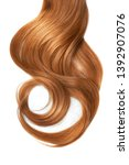 Long Wavy Red Hair Isolated On...