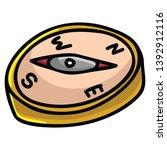 cute maritime compass cartoon...   Shutterstock .eps vector #1392912116