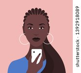 portrait of an african woman... | Shutterstock .eps vector #1392918089