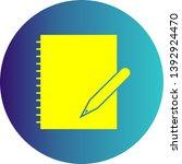illustration document icon for ... | Shutterstock . vector #1392924470