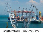 industrial port in odessa city  ... | Shutterstock . vector #1392928199