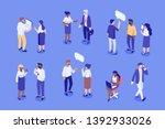 business people isometric... | Shutterstock .eps vector #1392933026