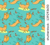seamless pattern with sea cat... | Shutterstock .eps vector #139293650