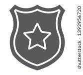 police badge glyph icon ... | Shutterstock .eps vector #1392956720