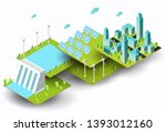 wind turbines  solar panels and ...   Shutterstock .eps vector #1393012160