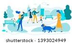 outdoors summer time activity.... | Shutterstock .eps vector #1393024949