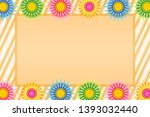 picture frame with colorful...   Shutterstock .eps vector #1393032440