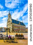 european city town square view. ... | Shutterstock . vector #1393038980