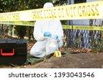 crime scene investigator at work | Shutterstock . vector #1393043546