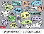 big set of vector speech bubble ... | Shutterstock .eps vector #1393046366